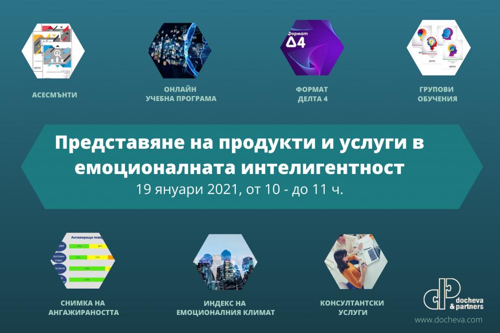 Представяне на продукти и услуги в емоционалната интелигентност 19 януари 2021